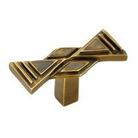 "Schaub and Company - Crescendo - Solid Brass 2"" Knob in Estate Dover With Penshell"
