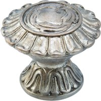 "Schaub and Company - Swan - Solid Brass 1 1/4"" Knob In Monticello Silver"