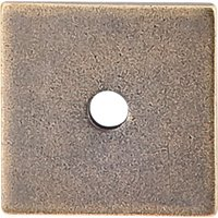 "Top Knobs - Sanctuary - 1"" Square Knob Backplate in German Bronze"