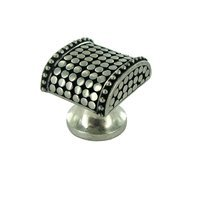 Vicenza Hardware - Tiziano - Small Spotted Knob in Satin Nickel