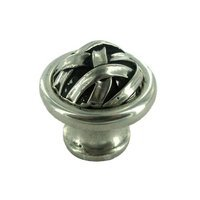 "Vicenza Hardware - Cilento - Large Mummy Wrap Knob 1 1/4"" in Satin Nickel"
