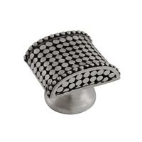 Vicenza Hardware - Tiziano - Large Spotted Knob in Satin Nickel