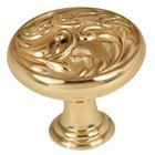 "Alno Creations Cabinet Hardware - Ornate - Solid Brass 1 1/4"" Diameter Knob in Polished Brass"