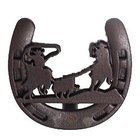Wild Western Hardware - Rust - Calf Roping Horseshoe Knob in Rust