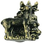 Sierra Lifestyles - Wildlife Design - Standing Deer Knob Left in Bronzed Black