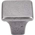 "Top Knobs - Britannia - 1 3/16"" (30mm) Square Knob in Cast Iron"